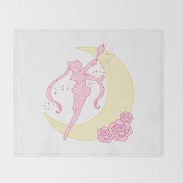 Sailor Moon Silhouette Throw Blanket