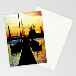 Light shines over the Harbour Stationery Cards
