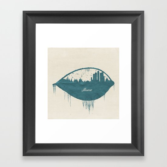 Frozen Moscow Framed Art Print