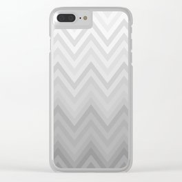 Chevron Fade Grey Clear iPhone Case
