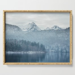 Lake and mountains - Bavarian Alps Serving Tray