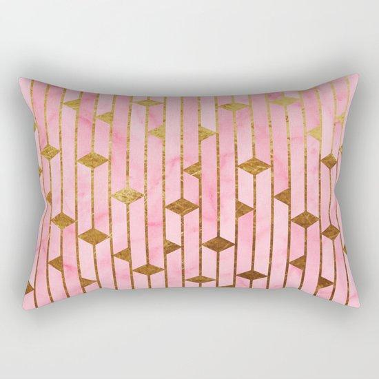 Pink Marble Skyscrapers Rectangular Pillow