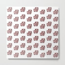 So ManyPiggy Piggy Oink Oinks - Cute Pigs - Abstract Shapes Metal Print
