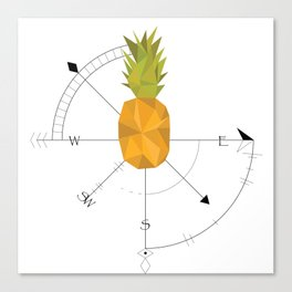 Pineapple Compass Canvas Print