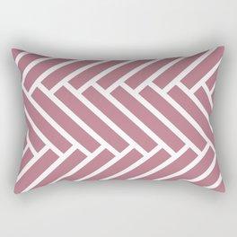 Dark pink and white herringbone pattern Rectangular Pillow