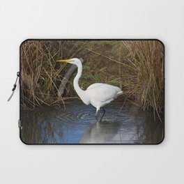 Just Right (Great Egret) Laptop Sleeve