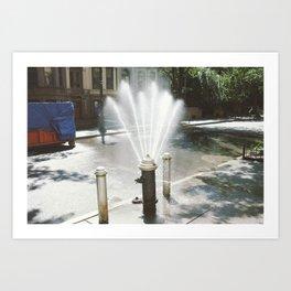 Pop The Hydrant Art Print