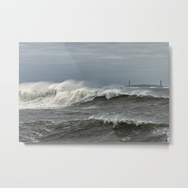 Big waves on the Back shore Metal Print
