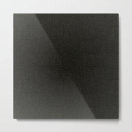 Black Stone Block Wall Metal Print