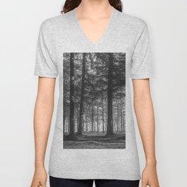 Black and white woods - North Kessock, Highlands, Scotland Unisex V-Neck