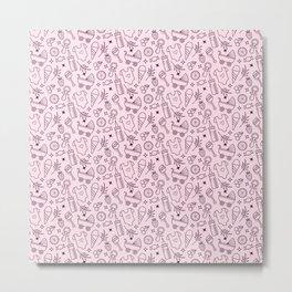 Pacify Me Pink Metal Print