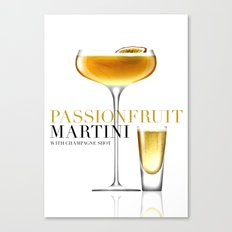 Passionfruit Martini with Champagne Shot Canvas Print