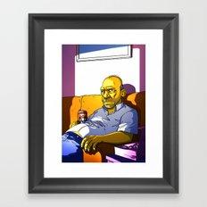 Depressed Homer Framed Art Print