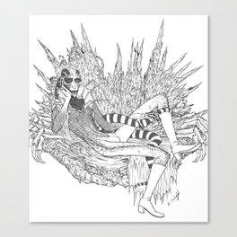 Spidery Throne Canvas Print