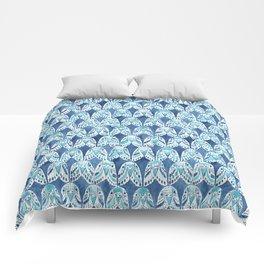 PARAKEET ON REPEAT Comforters
