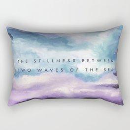 Stillness [Collaboration with Jacqueline Maldonado] Rectangular Pillow