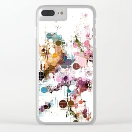 Decorative Subdued Pastel Pattern Abstract Clear iPhone Case