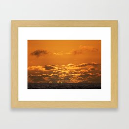 Green Flash. Framed Art Print
