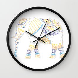 Decorated Elephant Wall Clock