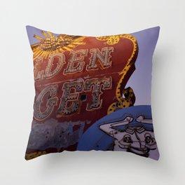 Golden Nugget Sign Throw Pillow