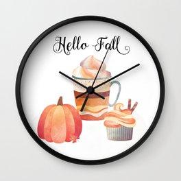 Hello Fall Wall Clock