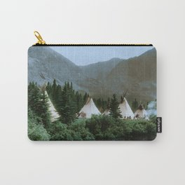 Blackfoot Camp Up the Cutbank in Montana Carry-All Pouch