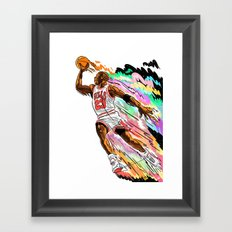 Air Time with Mike Framed Art Print
