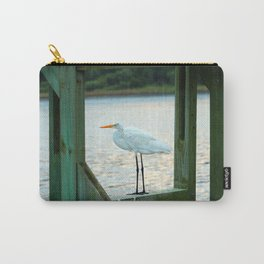 Egret Keeping Watch Carry-All Pouch
