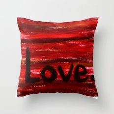 LOVE By KPD (Stretched) Throw Pillow
