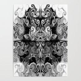 Black and White swirls Poster