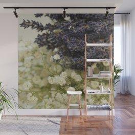 Lavender on gypsophila Wall Mural