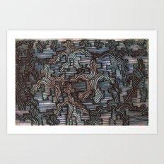waveblock Art Print