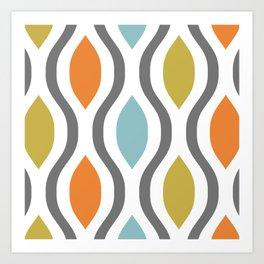 Pretty Ogee Pattern 331 Art Print