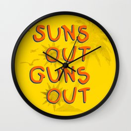 Guns Out Wall Clock