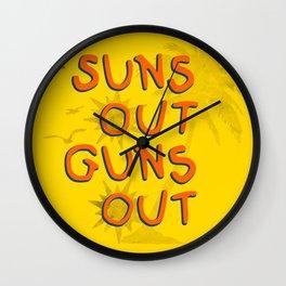 Guns Out Wall Clock