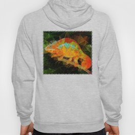 welcome to the jungle, abstract chameleon Hoody