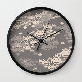 Space Invader Camo Wall Clock