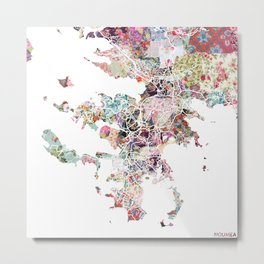 Noumea map Metal Print