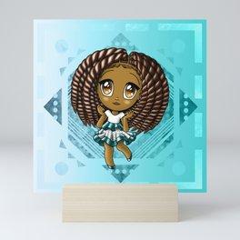 Adorable African American Girl Mini Art Print