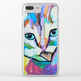 El gato arcoiris Clear iPhone Case