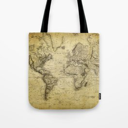 World Map 1814 Tote Bag