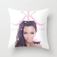 kardashian Throw Pillows featuring Kim Kardashian by Mark Gibson design
