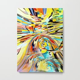Diverting colorful view abstract Metal Print