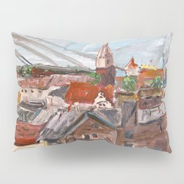 Dome Cathedral from City Hall in Riga, Latvia Pillow Sham
