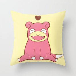Slowpoke Love Throw Pillow