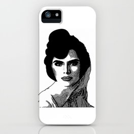 Lady in Black and White by Lika Ramati iPhone Case