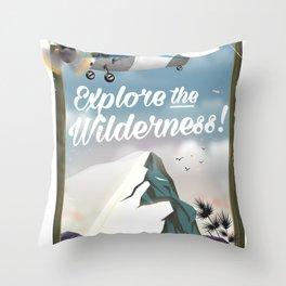 Explore the Wilderness! Throw Pillow