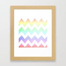 Watercolor Chevrons Framed Art Print
