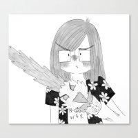 sword Canvas Prints featuring Sword by Kerstin The Nerd