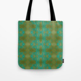 Turquoise lace Tote Bag